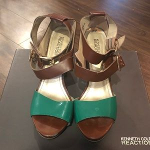 Kenneth Cole Reaction Brown High Heel Sandals